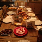 Valentines spread with friends